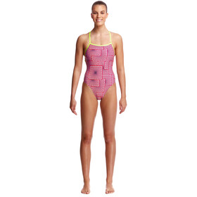 Funkita Strapped In One Piece Badpak Dames, swim spin